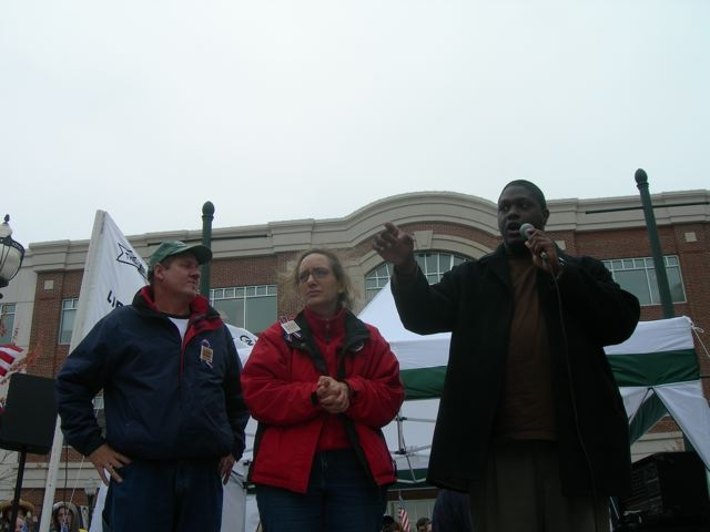 Onstage at the Hampton Roads Tea Party